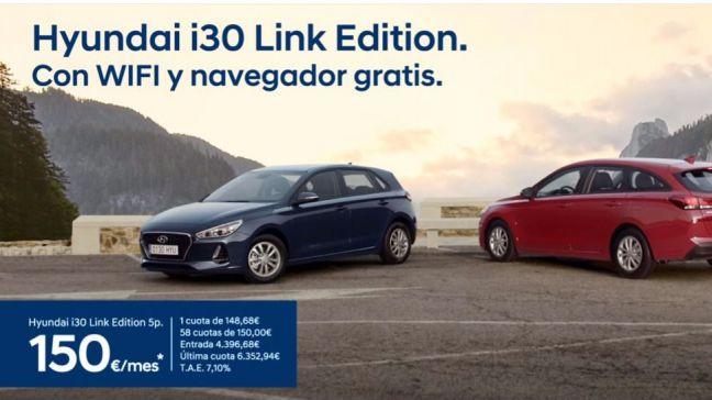 Nueva serie especial del Hyundai i30 link con navegador y WiFi gratis