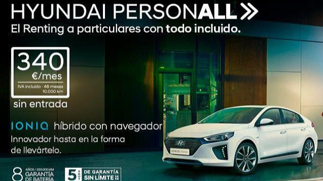 Hyundai Personall, el renting para particulares de Hyundai